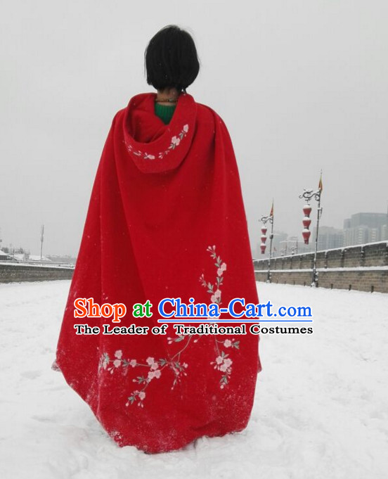 Ancient Chinese Embroidered Mantle Cape Hanfu Dress China Traditional Clothing Asian Long Dresses China Clothes Fashion Oriental Outfits for Women