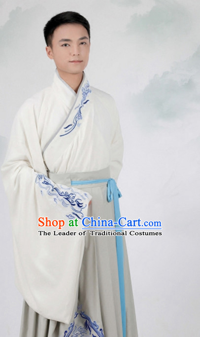 Ancient Chinese Embroidered Hanfu Dress China Traditional Clothing Asian Long Dresses China Clothes Fashion Oriental Outfits for Men