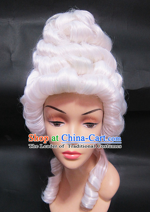 Chinese Traditional Wig Ancient Men Wigs Ladies Wigs White Wigs Male Lace Front Wigs Custom Hair Pieces
