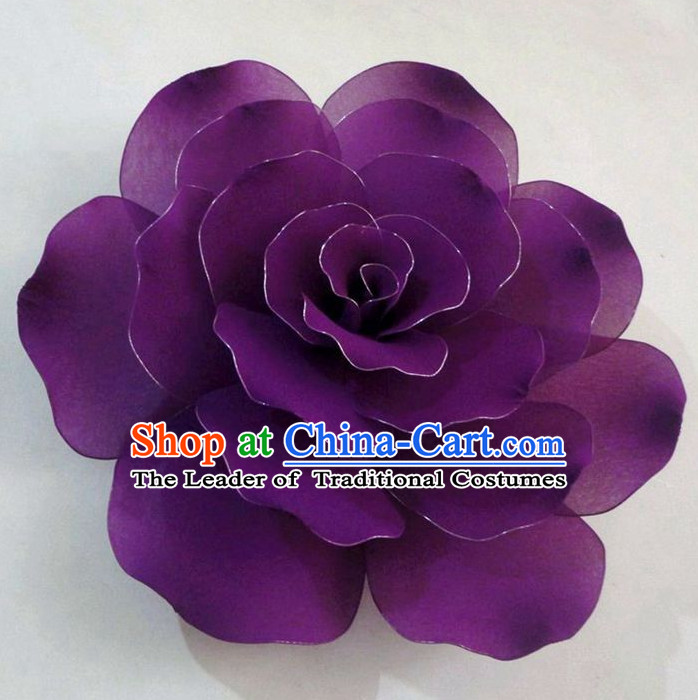 Purple Traditional Chinese Stage Performance Flower Props
