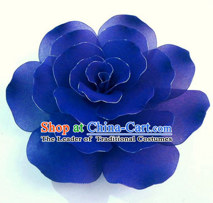 Blue Traditional Chinese Stage Performance Flower Dance Props Dancing Prop