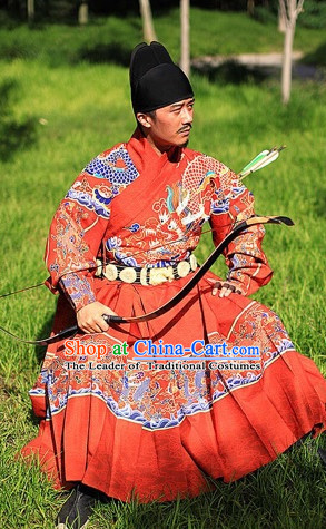 Ancient Chinese Ming Dynasty Royal Imperial Clothing for Men