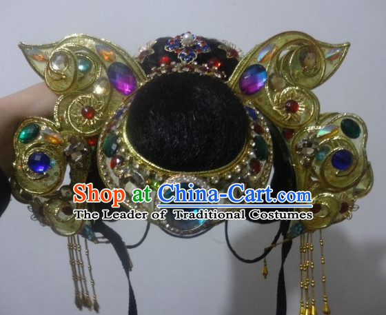 Traditional Chinese Stage Performance Dance Hat for Women
