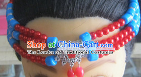 Traditional Chinese Tibetan Headdress for Women