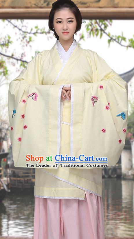 Asian Chinese Long Dresses Hanfu Costume Clothing Chinese Robe Chinese Kimono for Women