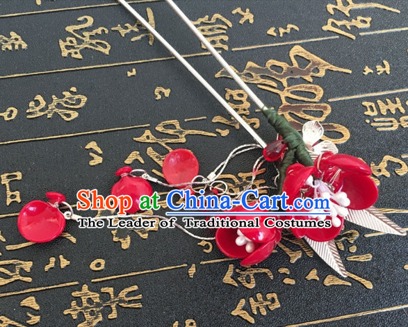 Chinese Ancient Flower Headdress Hairpin Headwear Jewelry for Women Girls