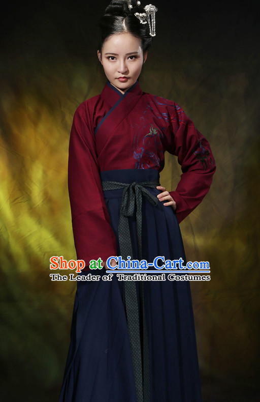 Asian Chinese Hanfu Dress Costume Clothing Oriental Dress Chinese Robes Kimono for Women