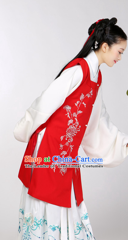 Asian Chinese Hanfu Dress Costume Clothing Oriental Dress Chinese Robes Kimono for Women Gilrls Adults Children