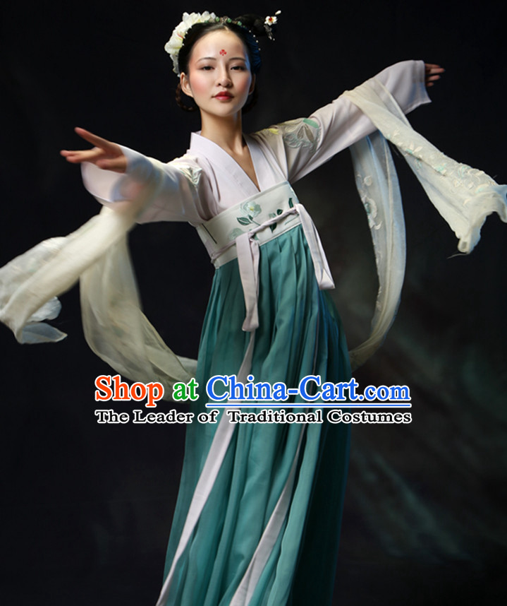 Asian Chinese Tang Dynasty Hanfu Dress Costume Clothing Oriental Dress Chinese Robes Kimono for Women Gilrls Adults Children
