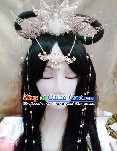 Chinese Ancient Empress Princess Hair Accessories Headdress Hairpin Headwear Jewelry for Women Girls