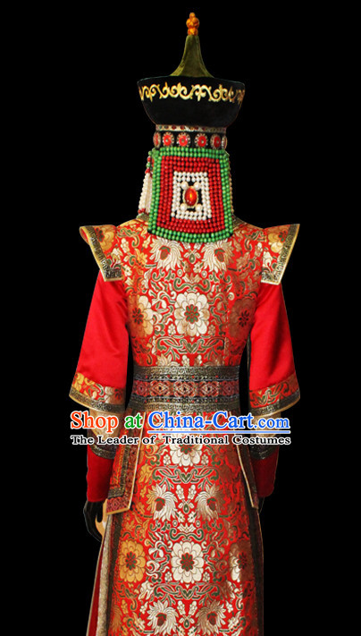 Genghis Khan Mongolian People Yuan Dynasty Mongolians Clothing Clothes Garment Complete Set