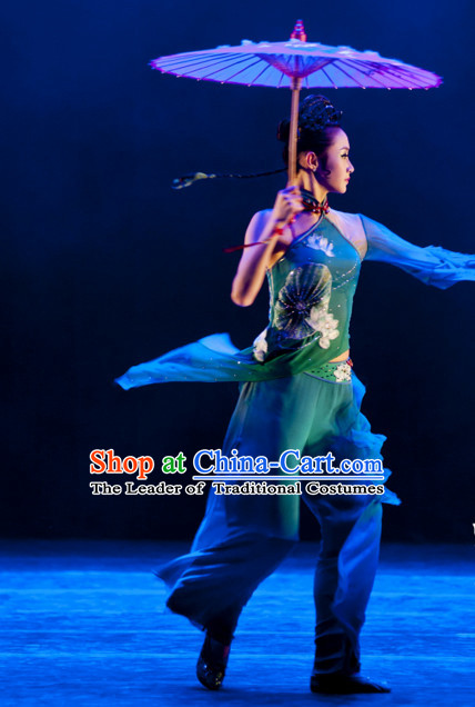 Traditional Chinese Classical Dancing Dancewear Umbrella Dance Costumes for Women