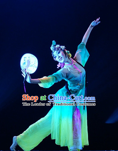 Traditional Chinese Classical Fan Dancing Dancewear Dance Costumes for Women