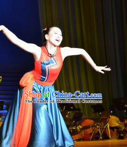 Chinese Mongolian Dancing Dancewear Dance Costumes for Women