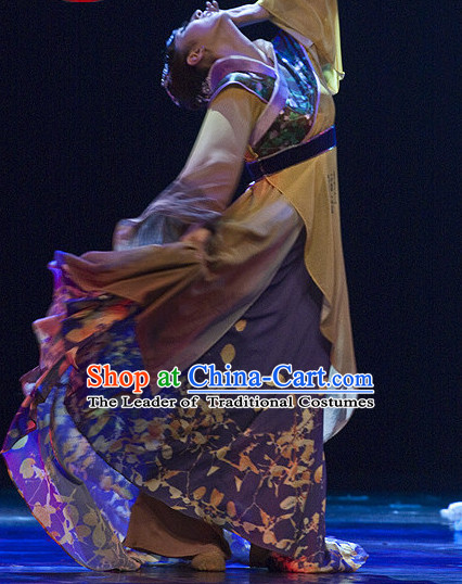 Chinese Classical Li Qingzhao Dance Costumes and Headdress Complete Set for Women or Gilrs