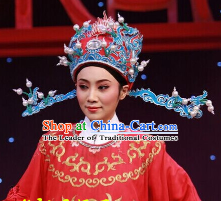 Chinese Beijing Opera Crown Coronet Headpieces Headwear Headdress Hat