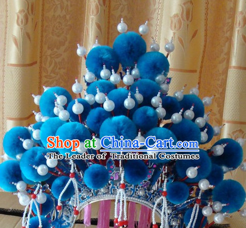 Chinese Beijing Opera Crown Coronet Headpieces Headwear Headdress Hat Phoenix Crown Coronet
