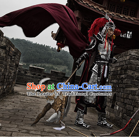 Chinese Superhero Cosplay Costumes and Hat Complete Set for Men