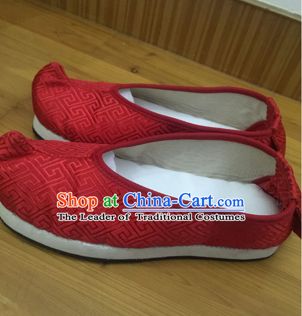 Chinese Ancient Handmade Traditional Bow Fabric Shoes
