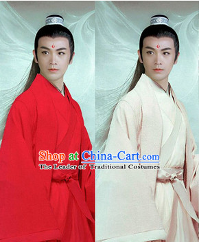 Ancient Chinese Superhero Long Black Wigs