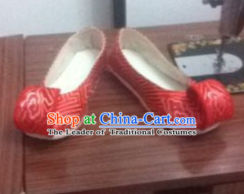 Chinese Classical Red Wedding Shoes