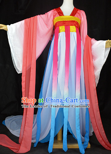 Chinese Traditional Palace Dancer Classical Dance Costume Complete Set for Women