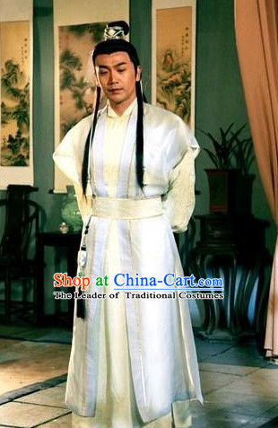Chu Liuxiang Classic Hong Kong Cantonese Drama Costume Complete Set for Men