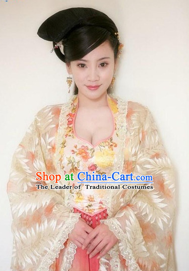 Chinese Classic Type of Black Royal Women Long Wigs and Hair Clips for Women