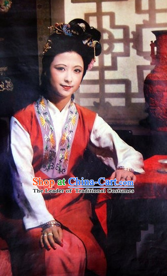 Dream of Red Chamber Ming Dynasty Noblewoman Garment and Hairpieces Complete Set for Women
