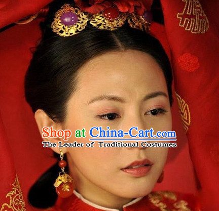 Qing Dynasty Imperial Palace Traditional Chinese Princess Style Black Long Wig Wigs and Hair Accessories for Women Girls