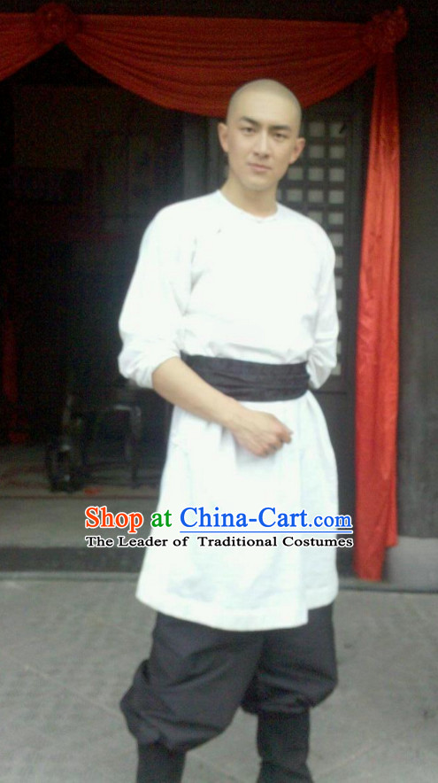 Ancient Chinese Style Kung Fu Dress Authentic Clothes Culture Costume Han Dresses Traditional National Dress Clothing Complete Set for Men
