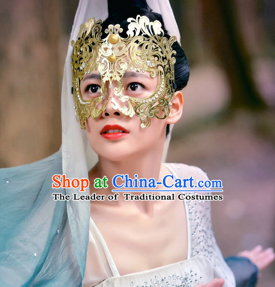 Ancient Chinese Traditional Style Princess Mask Accessories for Women Girls