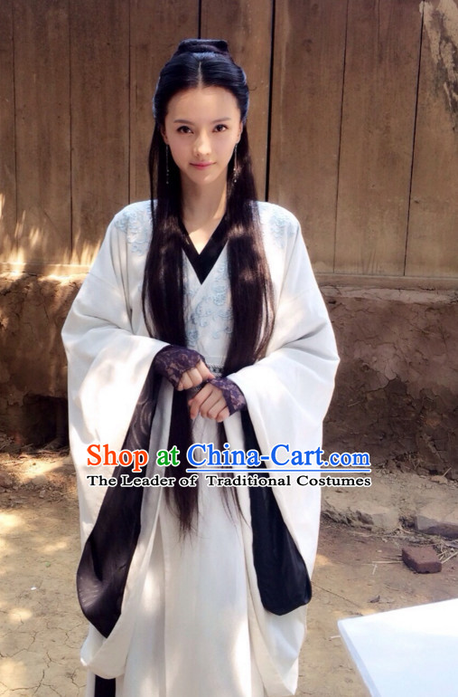 Ancient Chinese Style Hanfu Costumes Dress Authentic Clothes Culture Han Dresses Traditional National Dress Clothing and Headpieces Complete Set
