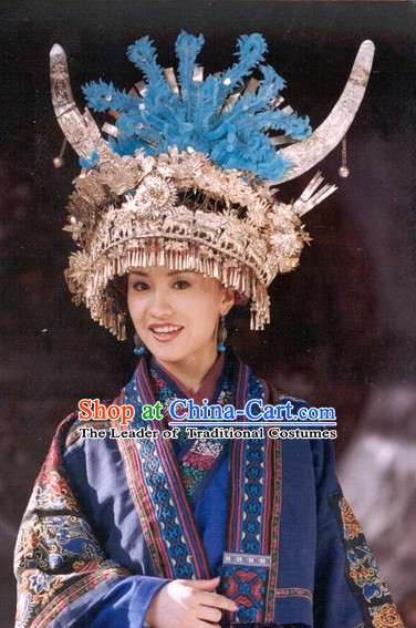 Chinese Traditional Ethnic Miao Silver Hat