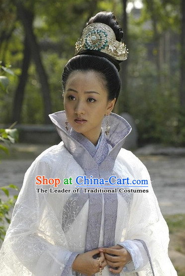 Chinese Traditional Ancient Style Black Wigs and Headwear