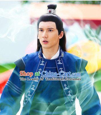 Ancient Chinese Black Long Wig for Men