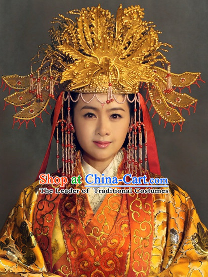 Ancient Chinese Style Empress Phoenix Hat for Women