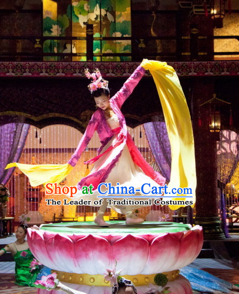 Traditional Ancient Chinese Style Lotus Base Dance Props Decorations