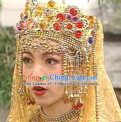 Traditional Ancient Chinese Style Imperial Palace Royal Princess Headpieces Hair Jewelry for Women and Girls