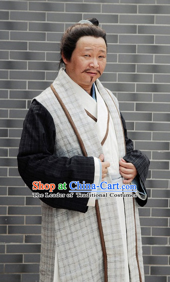 Ancient Chinese Style Landlord Costumes Complete Set for Men Boys
