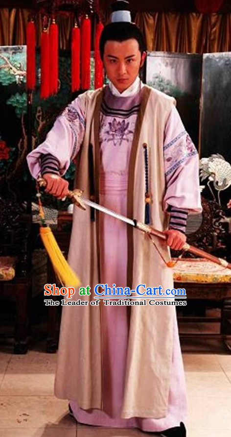 Traditional Chinese Ancient Prince Costumes Complete Set