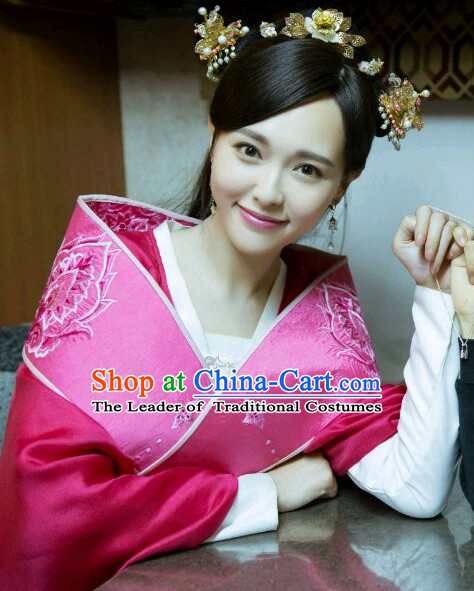 Ancient Chinese Traditional Style Princess Hair Jewelry Headpieces Set