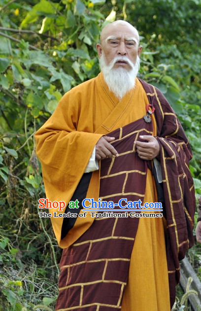 Traditional Chinese Ancient Monk Costumes Complete Set For Men
