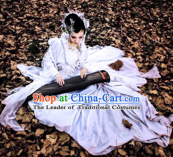 Sexy Imperial Royal Ancient Chinese Princess Clothing Complete Set for Women