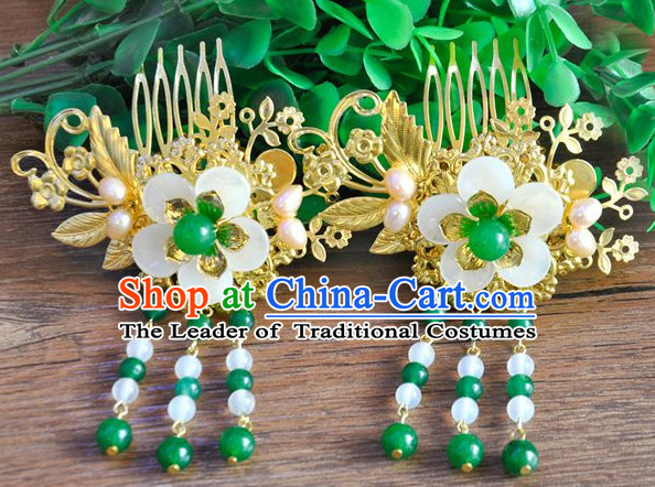 Chinese Traditional Ancient Hair Sticks Hair Ornaments Chopsticks Gold Hair Pins Hairsticks Oriental Asian Head Jewellery Hair Clips Hair pIeces Hair Style