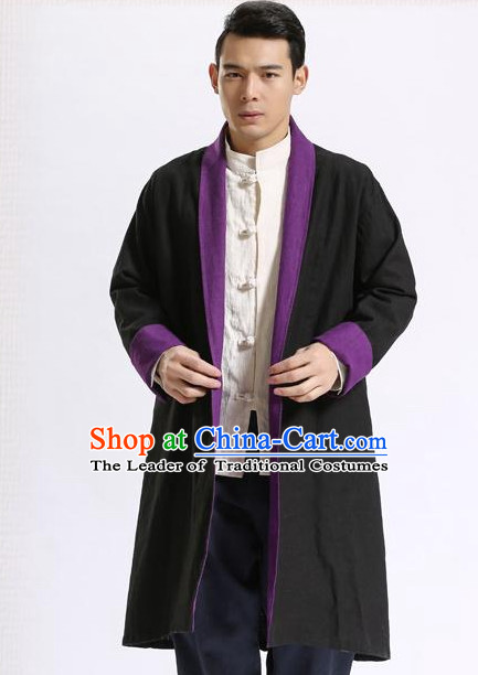 Long Minguo Style Male Mandarin Coat for Men or Boys