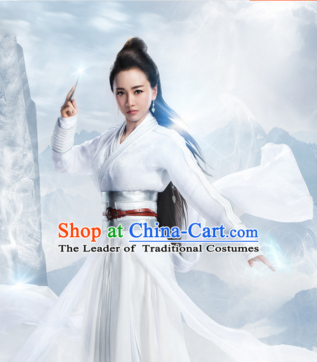 Ancient Chinese Fairy Garment and Hair Jewelry Complete Set for Women