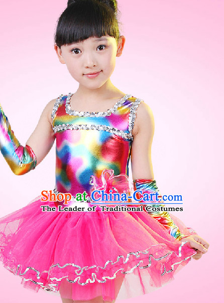 Chinese Competition Dance Dress for Children Girls