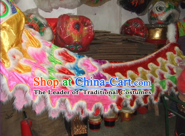 Chinese Traditional Lion Body Costume Pants Claws Set