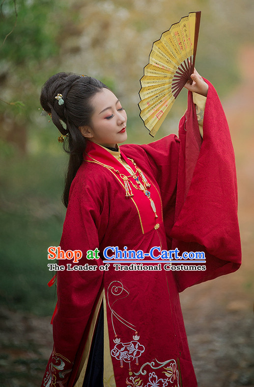 Ming Dynasty Clothing Garment and Hair Accessories Complete Set for Women